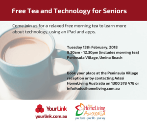free tea and technology for seniors