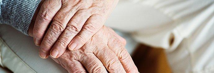 an elderly hands